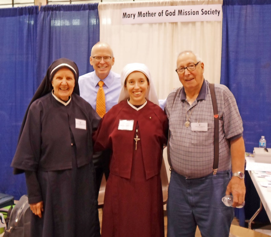 Sr. Gemma Marie and Mother Julia and friends at the conference