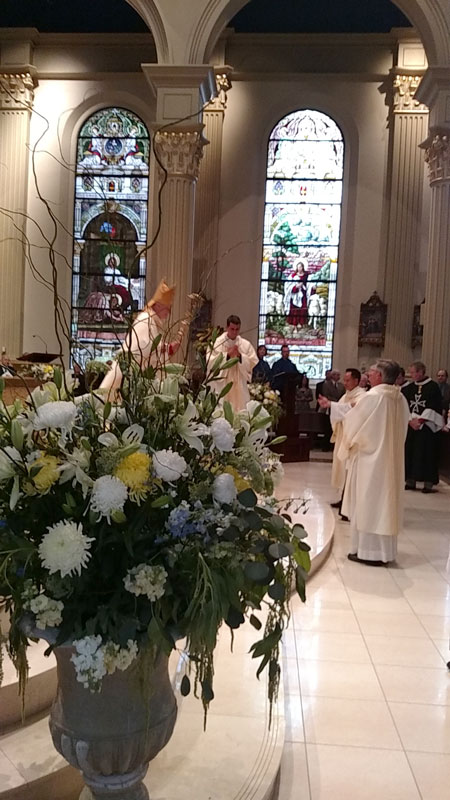 The recessional of the installation Mass