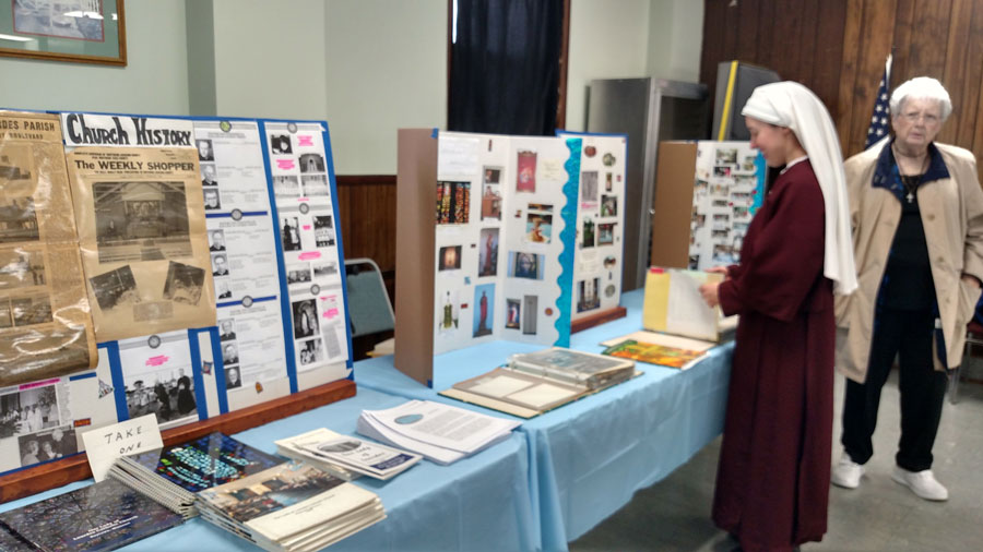 parish history display