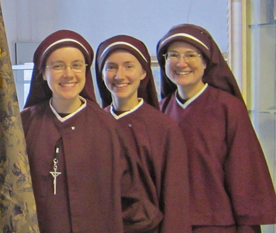 Sr. Catherine Marie, Sr. Faustina Marie, and Sr. Maria Stella