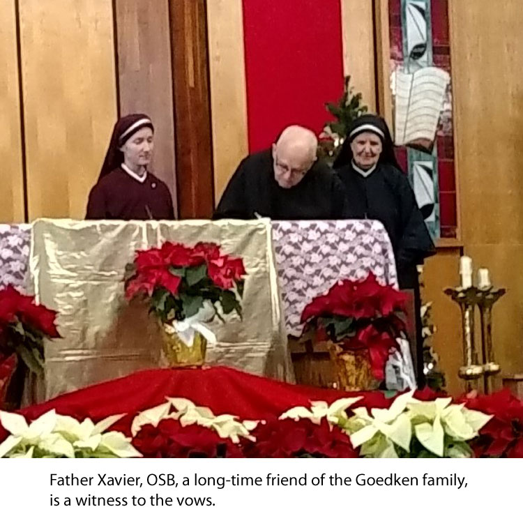 Fr. Xavier witnesses the renewal of vows