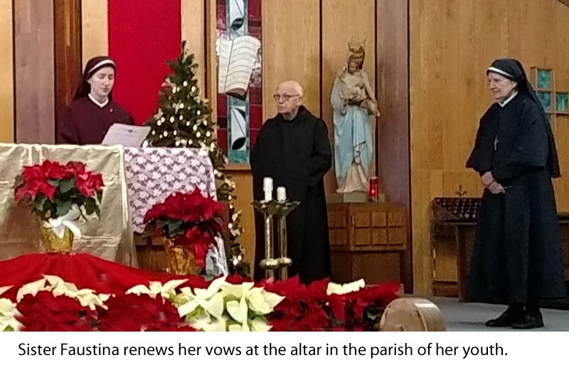 Sr. Faustina renewing vows