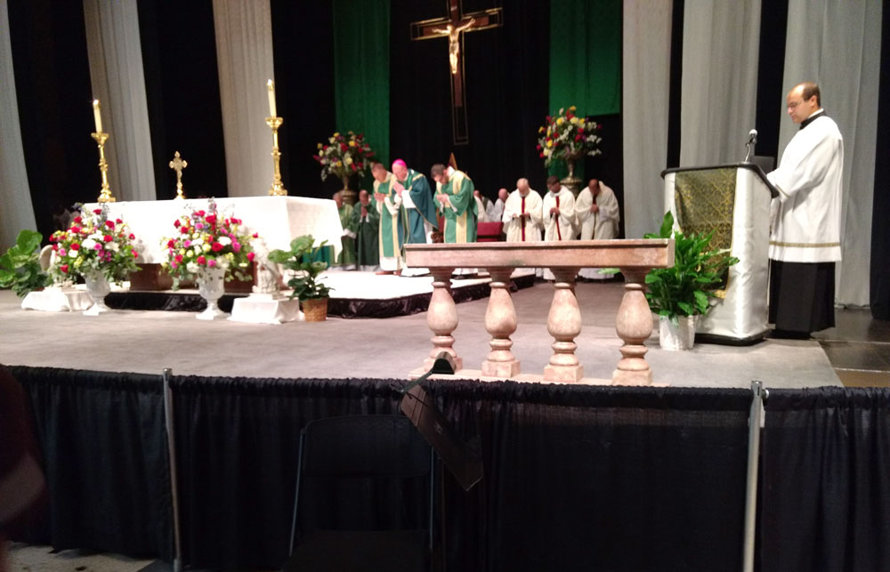 Mass at the conference